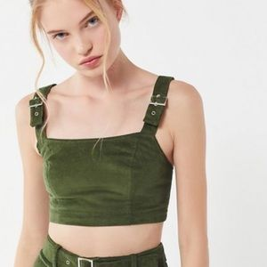 Urban Outfitters kolby corduroy Crop Top Large NWT